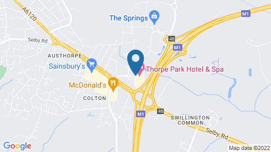 Thorpe Park Hotel and Spa Map