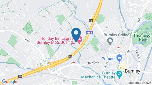 Holiday Inn Express Hotel Burnley M65 JCT10 Map