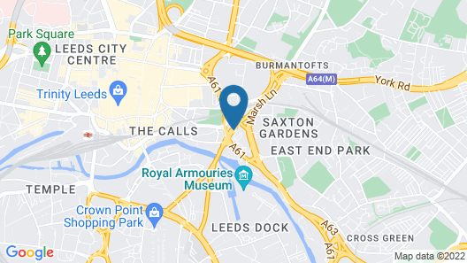 ibis budget Leeds Centre Crown Point Road Map