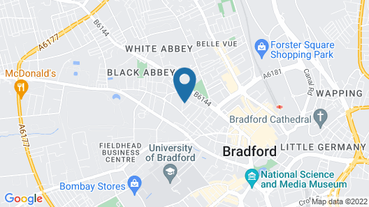 Appealing Studio in Bradford Near Forster Square Retail Park Map