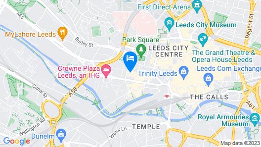 Mercure Leeds Centre Hotel Map