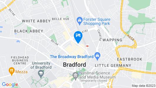 Lux Aparts Bradford Central Map