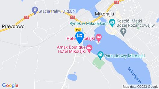 Ach Mazury Stanica Mikołajki Map