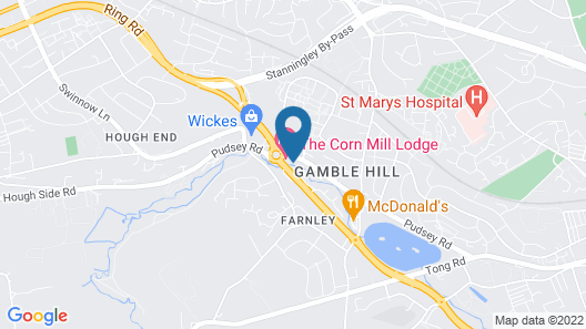 The Corn Mill Lodge Hotel Map