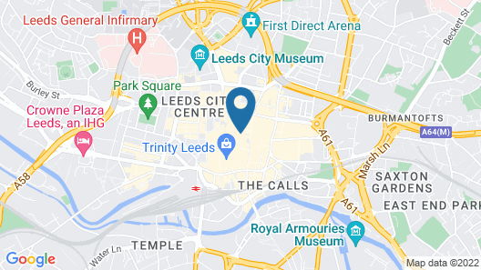 easyHotel Leeds Map
