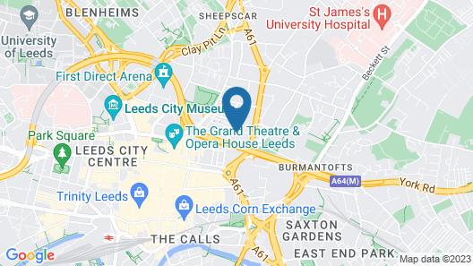 Hampton by Hilton Leeds City Centre Map
