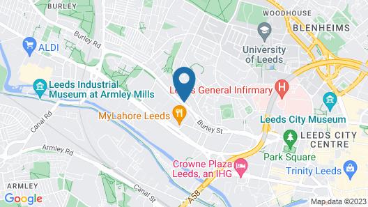 Roomzzz Leeds City West Map