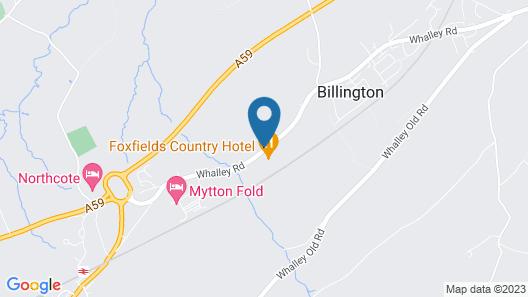 Foxfields Country Hotel Map