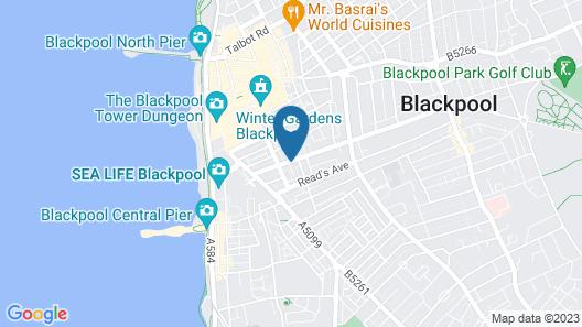 DJ Suites Blackpool Map