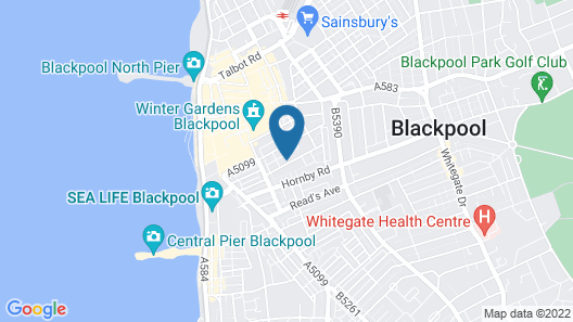Blackpool Central Hotel Map