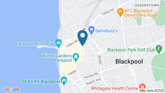 Winter Gardens Service Apartments 2 Map
