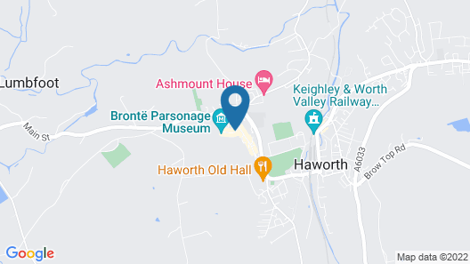 Wool Combers Rest & Brönte Parsonage - Haworth Map