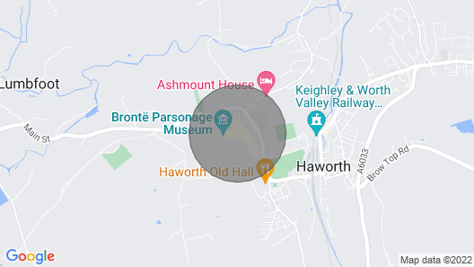 Wool Combers Rest & Brönte Parsonage - Haworth Map