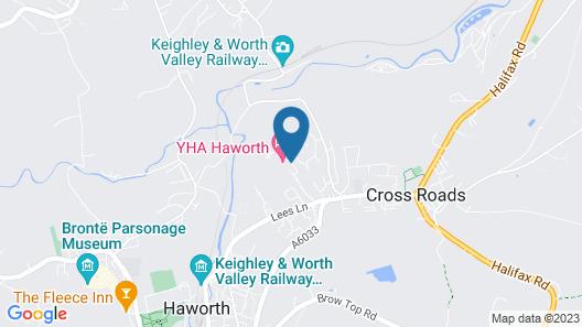 YHA Haworth - Hostel Map