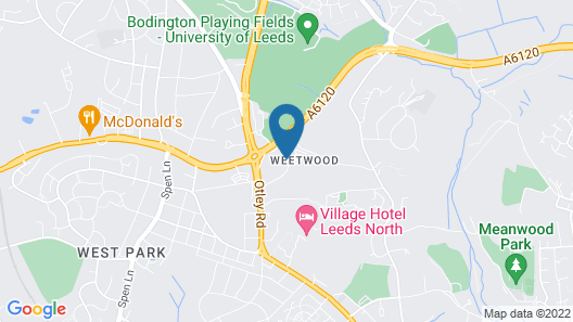 Weetwood Hall Conference Centre & Hotel Map