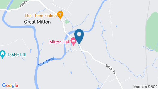 Mitton Hall Country House Hotel Map