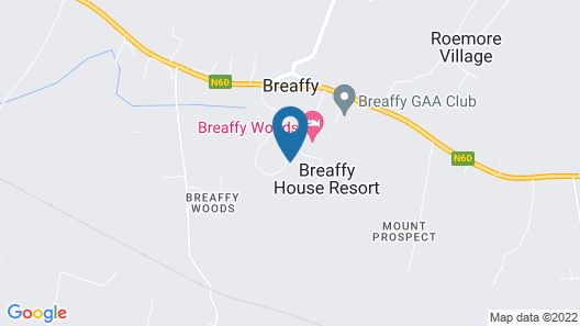 Breaffy House Hotel Map