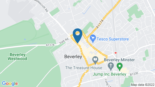 Beverley Arms AT Beverley Map