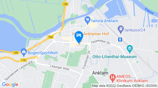 Hotel Anklamer Hof, BW Signature Collection Map