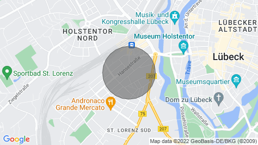 Lindenstrasse apartment 1 Map