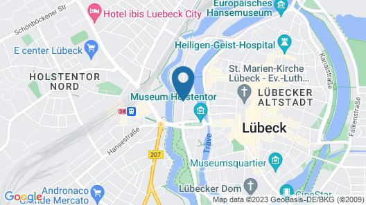 Radisson Blu Senator Hotel Map
