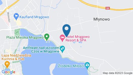 Hotel Mragowo Resort & Spa Map