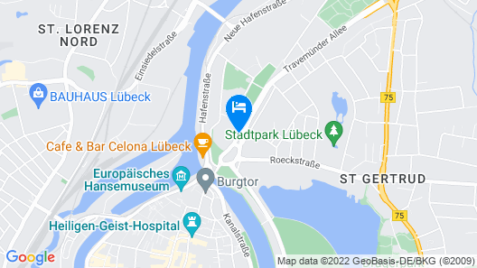 Holiday Inn Luebeck Map