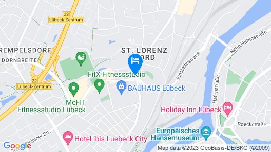 Viva Hotel Lübeck Map