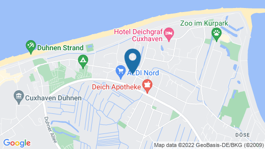 Moin! Hotel Cuxhaven Map