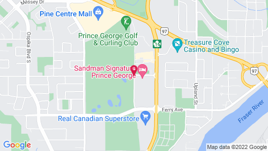 Pomeroy Inn & Suites Prince George Map