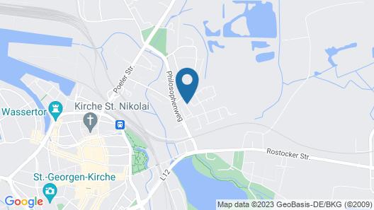 Antique Apartment in Wismar Mecklenburg With Garden Map