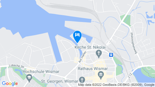 Splendid Apartment in Wismar With Balcony Map