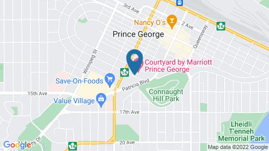 Courtyard by Marriott Prince George Map