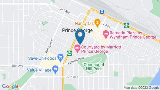 Coast Prince George Hotel by APA Map