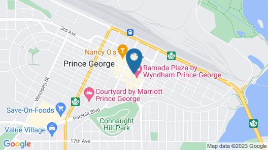 Ramada Plaza by Wyndham Prince George Map