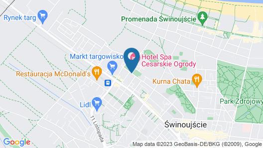 Hotel Cesarskie Ogrody Map