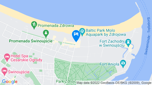 Radisson Blu Resort, Swinoujscie Map