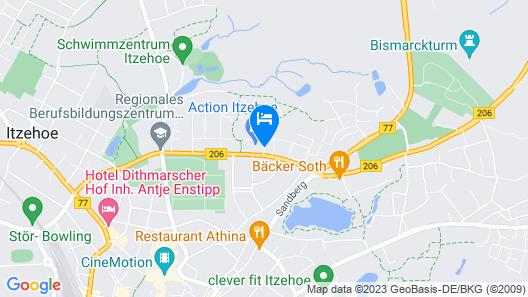Hotel Mercator Itzehoe-Klosterforst Map