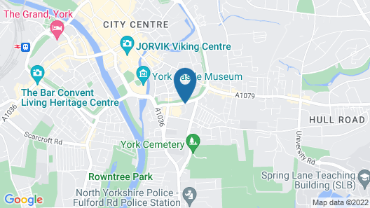 Staycity Aparthotels Barbican Centre Map