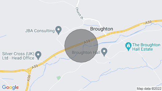 2 Bedroom Accommodation in Broughton, Near Skipton Map