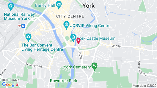 Holiday Inn York City Centre Map