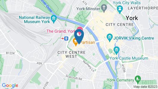 Safestay York Map