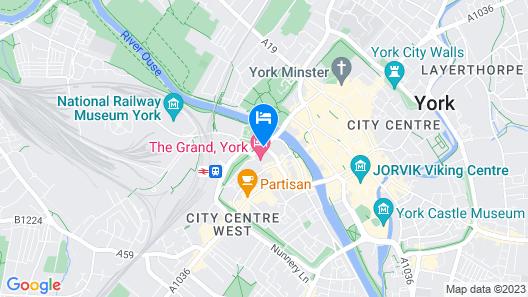Malmaison York Map
