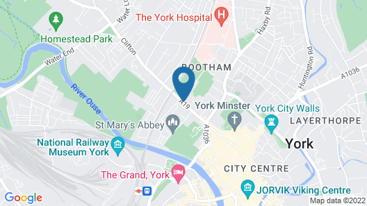 The Minster Hotel York Map