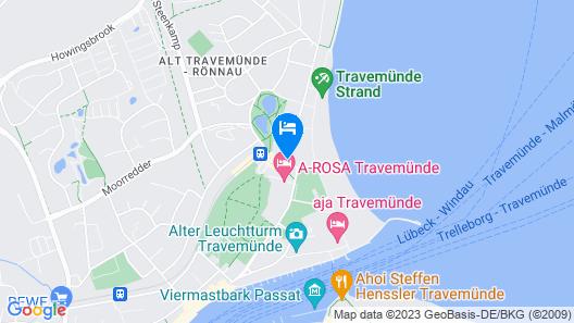 ATLANTIC Grand Hotel Travemünde Map