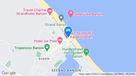 SEETELHOTEL Kaiserstrand Beachhotel Map