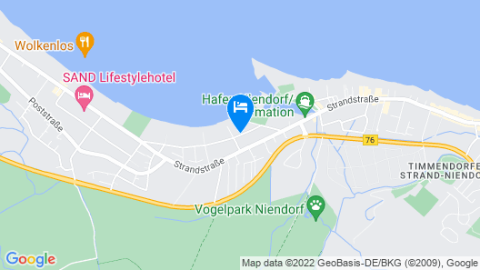 Comfortable Apartment With Pool and Sauna 200m From the Beach Map