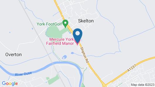 Mercure York Fairfield Manor Hotel Map