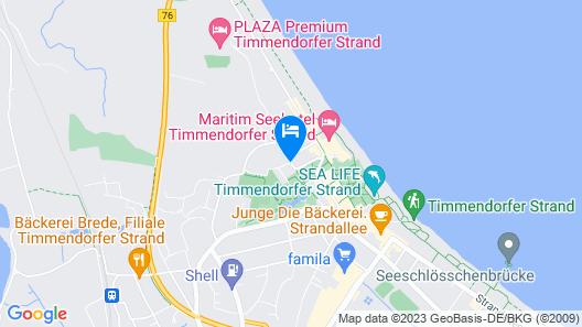 Barefoot Hotel Timmendorfer Strand Map