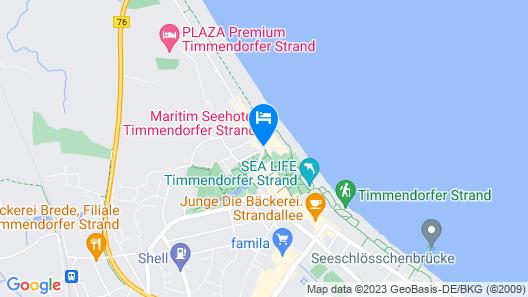 Maritim Seehotel Timmendorfer Strand Map
